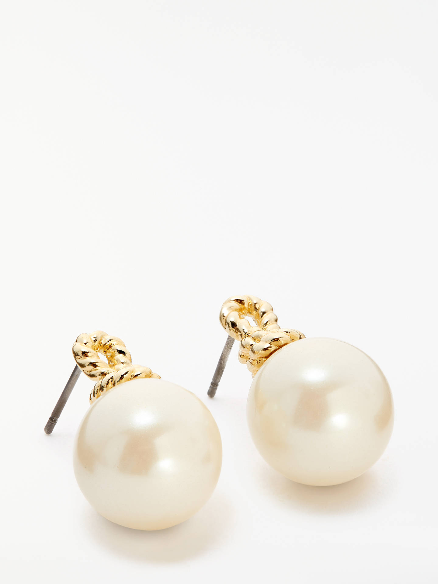Buy kate spade new york Pearl Drop Stud Earrings, Gold/Multi Online at johnlewis.com
