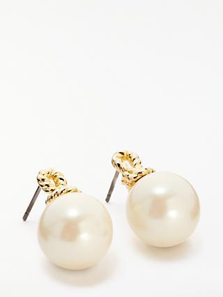 Kate Spade New York Pearl Drop Stud Earrings Gold Multi