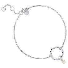 Buy Claudia Bradby Bullet Pearl Drop Chain Bracelet, Silver Online at johnlewis.com