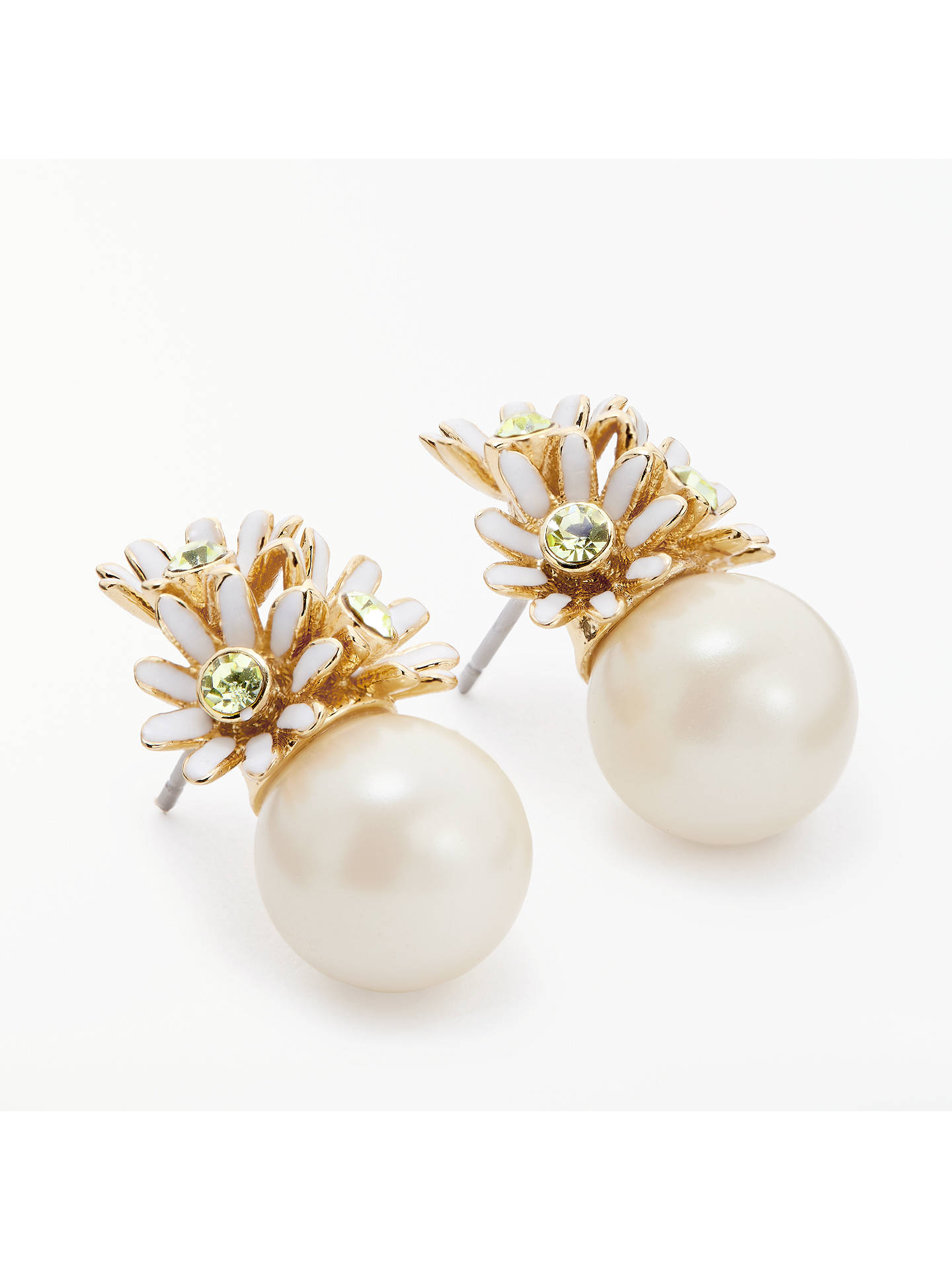 2cefacd61 Buy kate spade new york Loves Me Flower & Pearl Stud Earrings, Multi Online  at ...