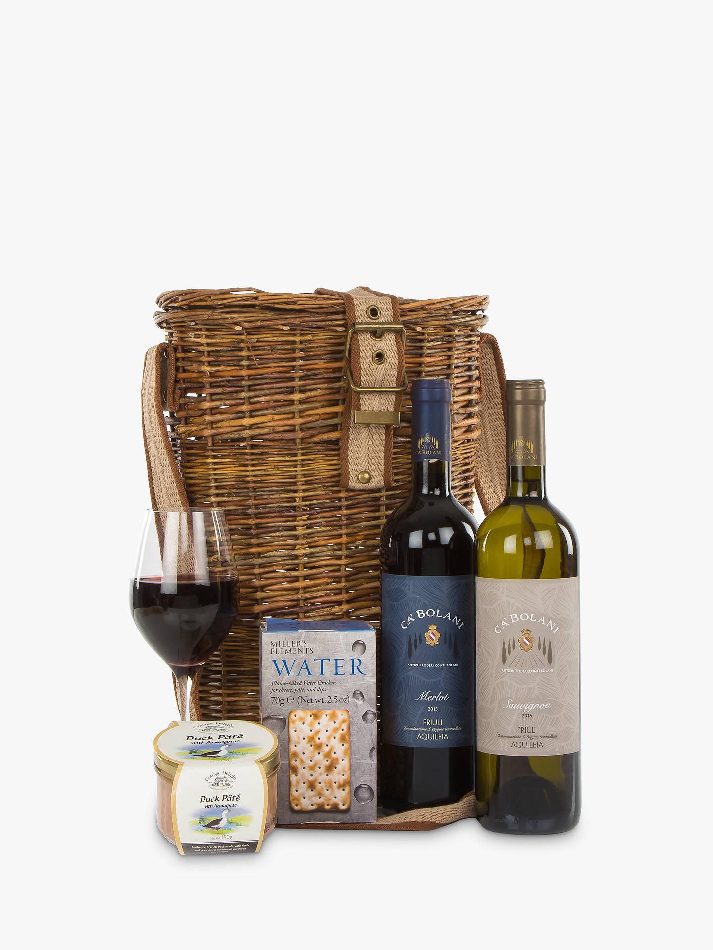 John Lewis Partners Wine Duo And Nibbles Hamper At Bola Basket Linning Buyjohn Online Johnlewis