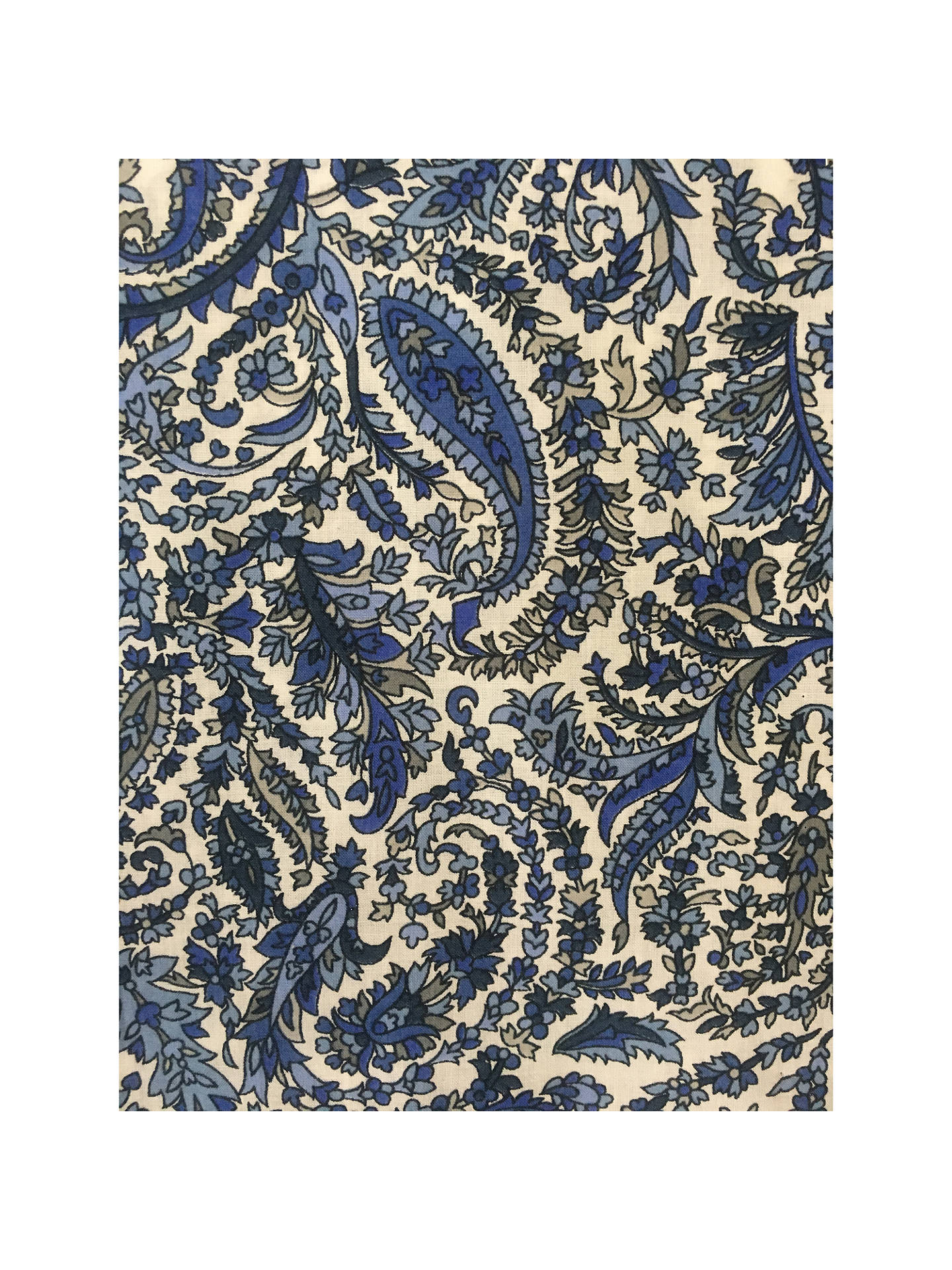 BuySpendlove Paisley Print Fabric, Blue Online at johnlewis.com