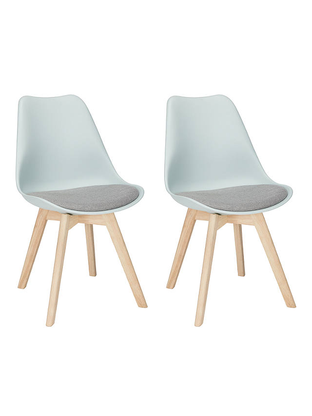 Buy John Lewis & Partners Dima Dining Chairs, Set of 2, Mineral Blue Online at johnlewis.com