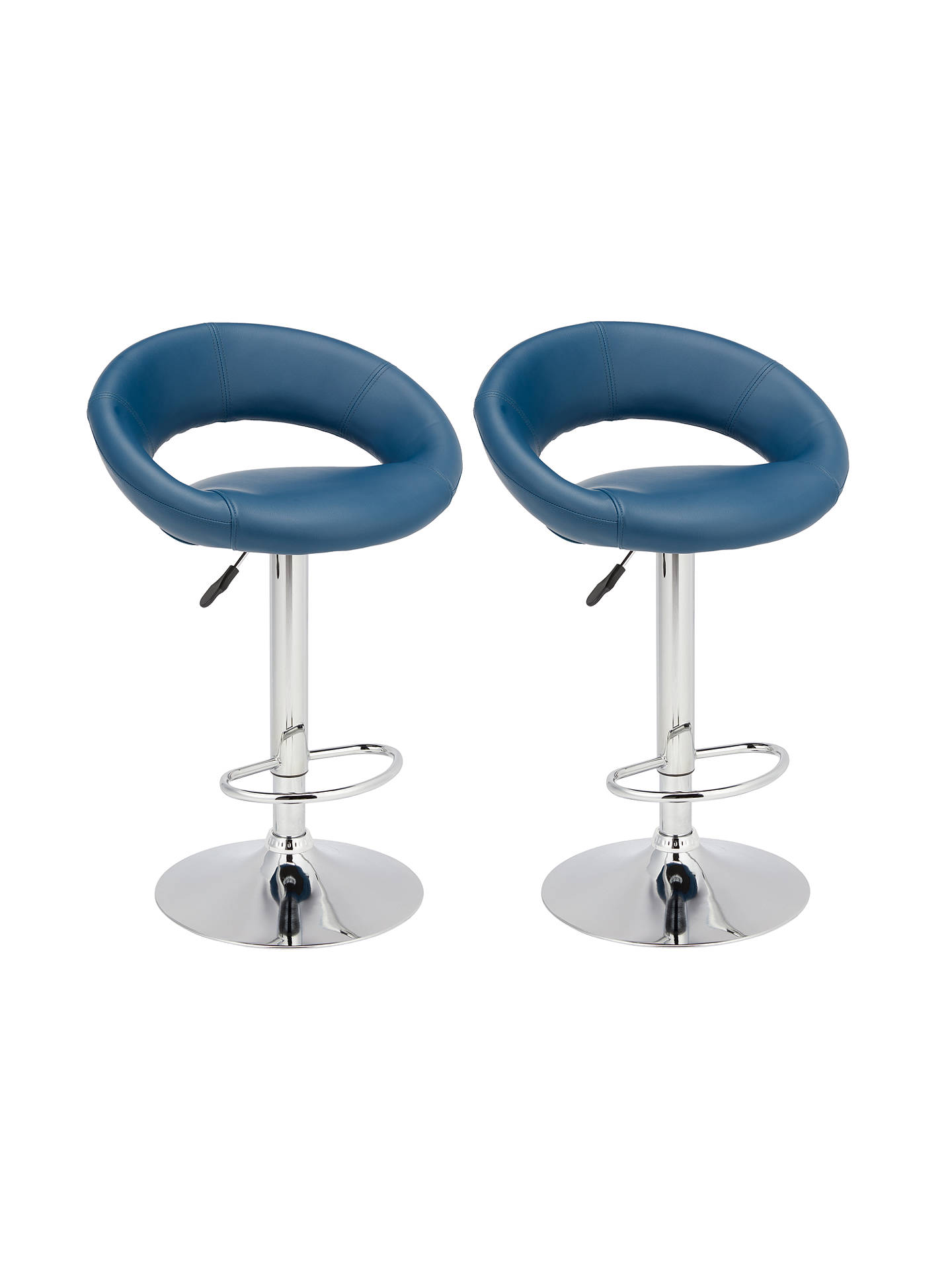 BuyJohn Lewis & Partners Oliver Bar Stools, Set of 2, Navy Online at johnlewis.com