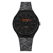 Buy Superdry Men's Urban Extra Large Silicone Strap Watch Online at johnlewis.com