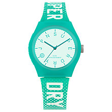 Buy Superdry Women's Urban Logo Indices Silicone Strap Watch, Green/White Online at johnlewis.com