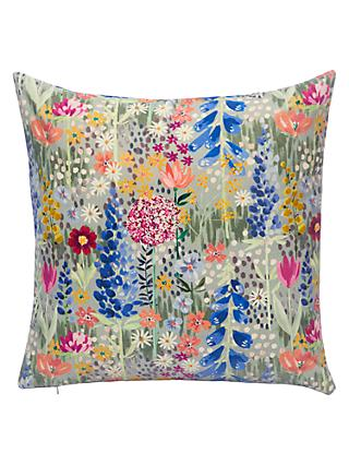 John Lewis & Partners Flora Velvet Cushion