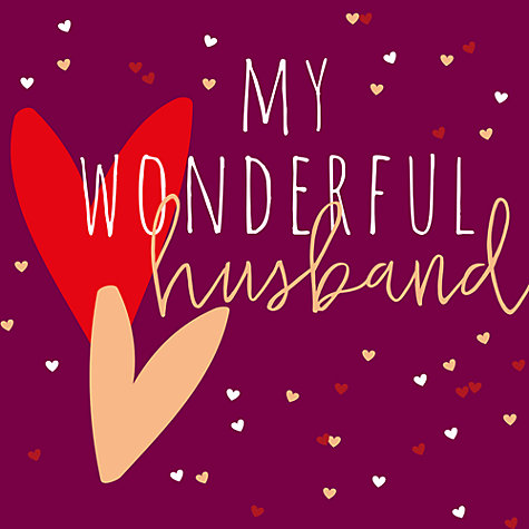 buy belly button designs wonderful husband valentines day card online at johnlewis - Online Valentines Day Cards