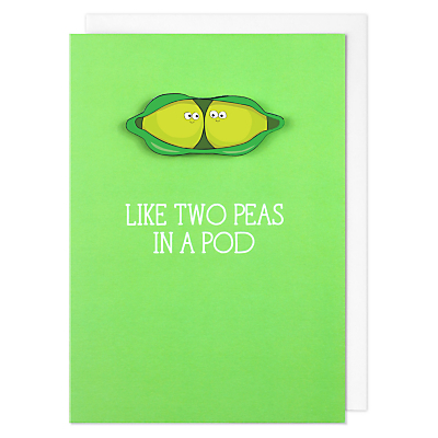 Image of Tache Crafts Two Peas Valentine's Day Card