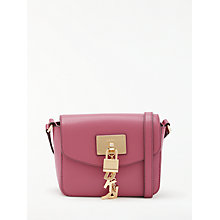 Buy DKNY Elissa Charm Detail Small Leather Cross Body Bag, Hot Pink Online at johnlewis.com