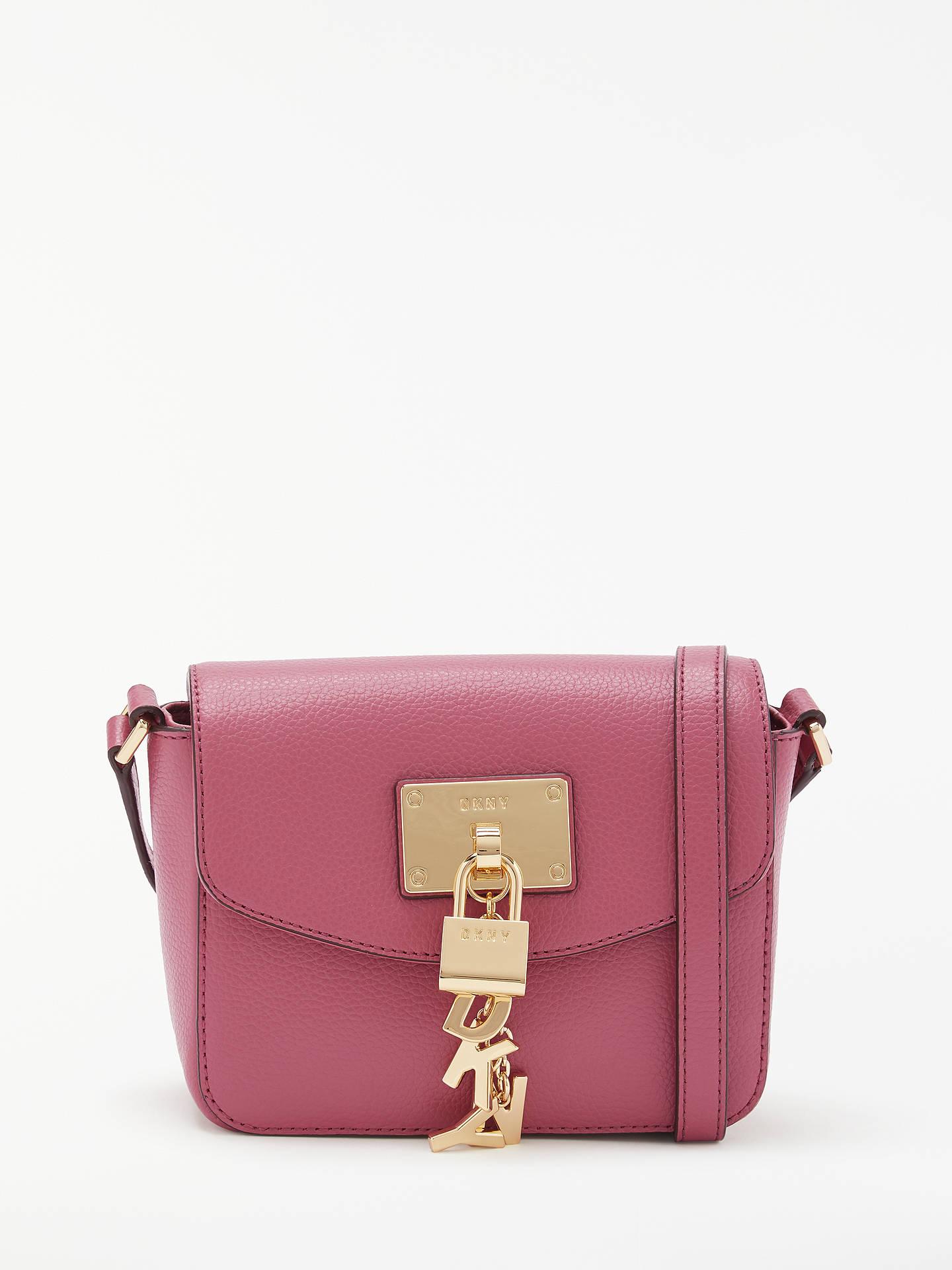 Buy DKNY Elissa Charm Detail Small Leather Cross Body Bag 872251471b935