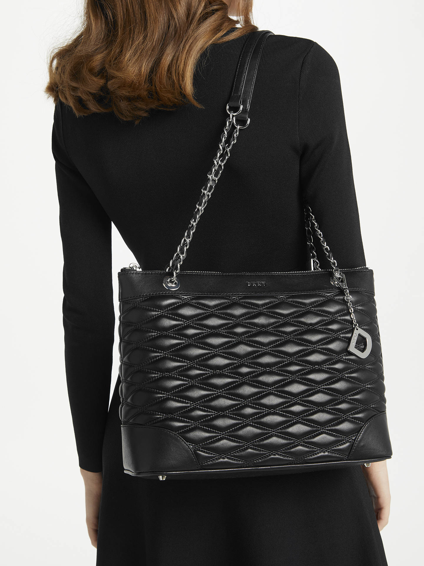9d2cbc56d0b Dkny Quilted Black Tote Bag - G. M. Luico Enologia