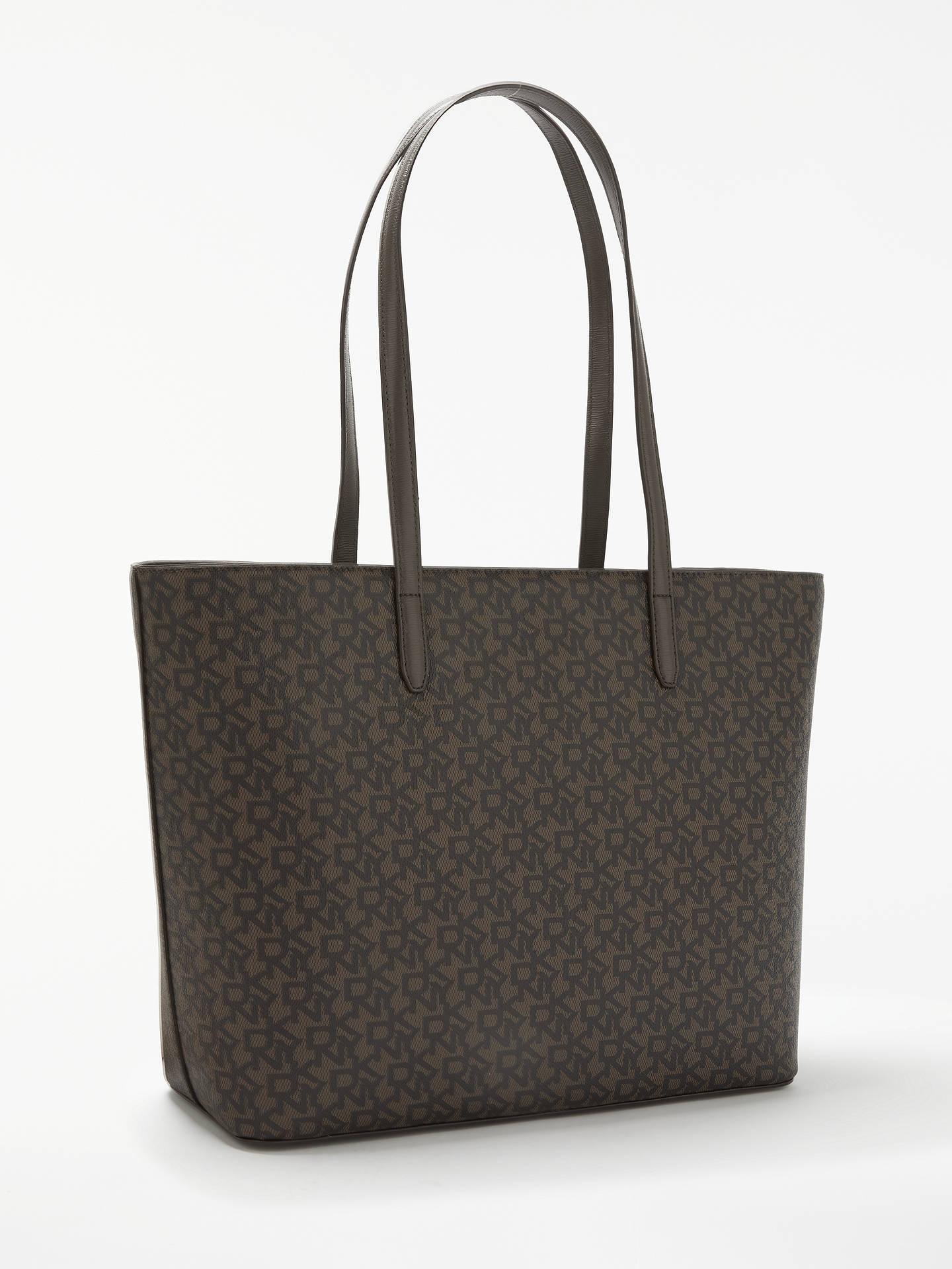 843e0182b ... Buy DKNY Sutton Large Logo Tote Bag, Brown Online at johnlewis.com ...