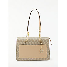 Buy DKNY Chain Item Large Logo Top Zip Tote Bag Online at johnlewis.com