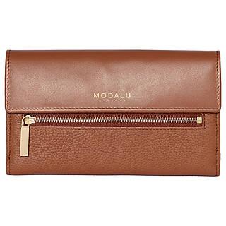 Leather Zip Around Wallet - hey hey hey by VIDA VIDA L0gAmTwlo