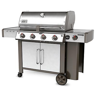 Weber Genesis II LX E-44 Stainless Steel 4 Burner Gas BBQ, Silver