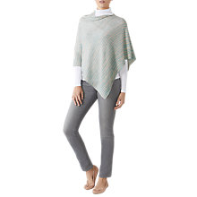 Buy Pure Collection Gassato Cashmere Poncho, Animal Stripe Online at johnlewis.com