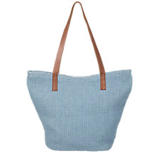 Buy East Classic Jute Bag, Denim Blue Online at johnlewis.com