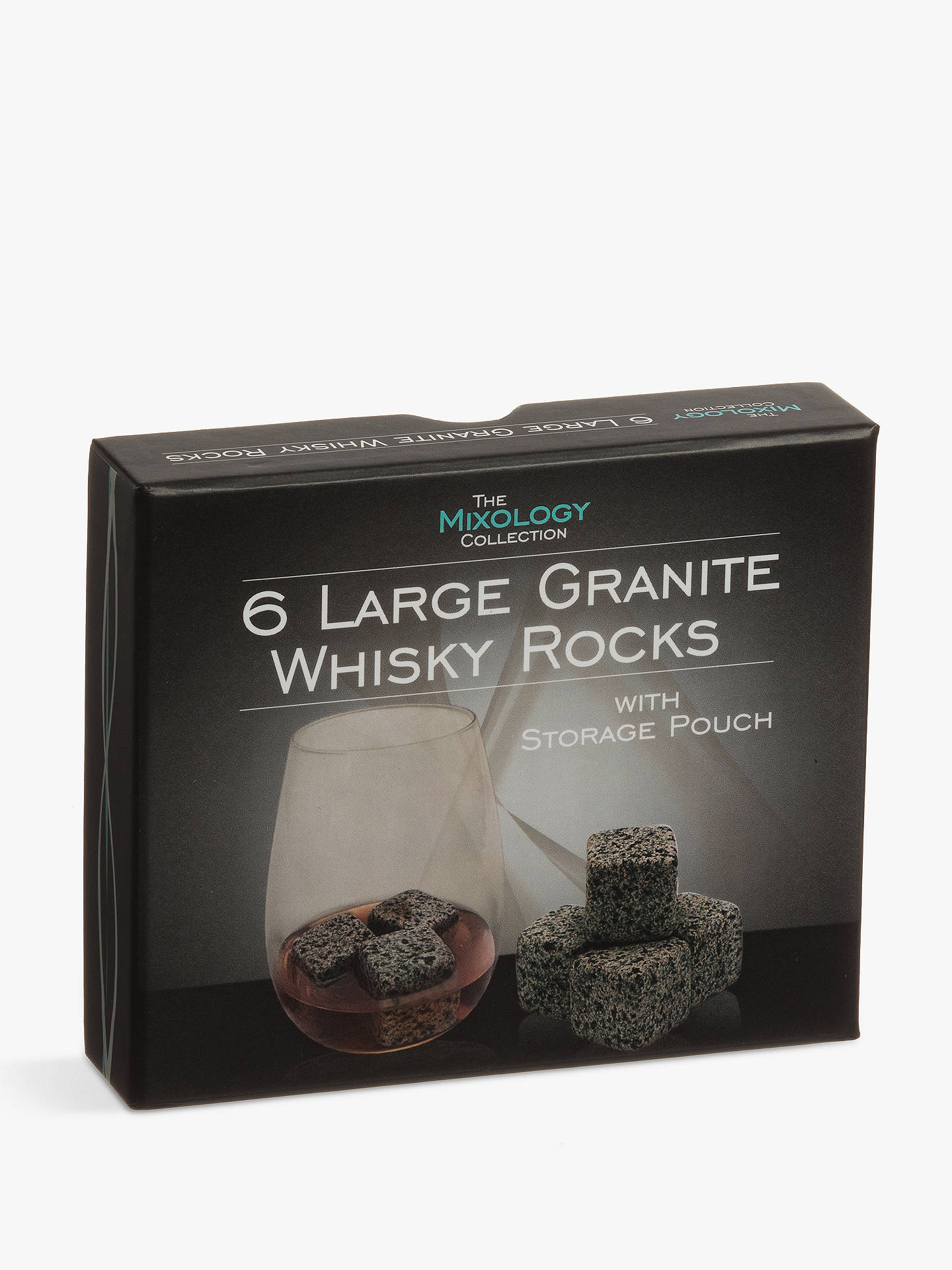 Buy Mixology Granite Whisky Stones with Pouch, Grey, Set of 6 Online at johnlewis.com