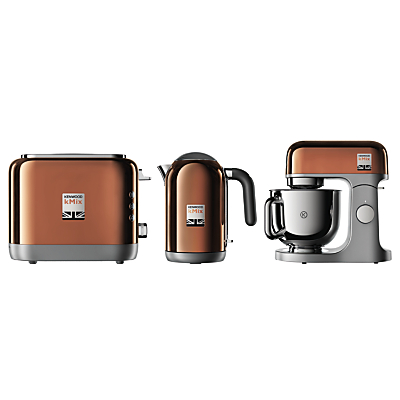 Kenwood kMix Stand Mixer, Toaster and Kettle Bundle, Rose Gold
