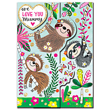 Buy Rachel Ellen Sloths Mother's Day Card Online at johnlewis.com