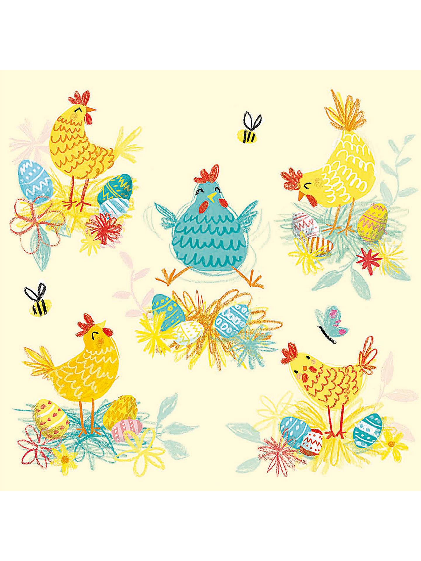 Woodmansterne Spring Chickens Easter Greeting Card At John Lewis