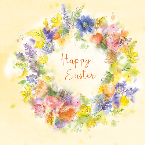 Buy saffron cards and gifts easter wreath greeting card john lewis buy saffron cards and gifts easter wreath greeting card online at johnlewis negle Choice Image