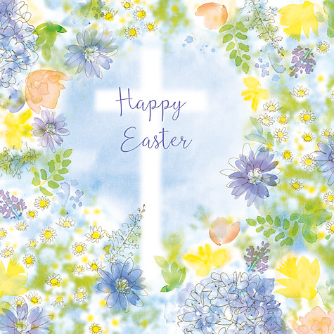 Buy saffron cards and gifts frame with cross easter greeting card buy saffron cards and gifts frame with cross easter greeting card online at johnlewis negle Choice Image