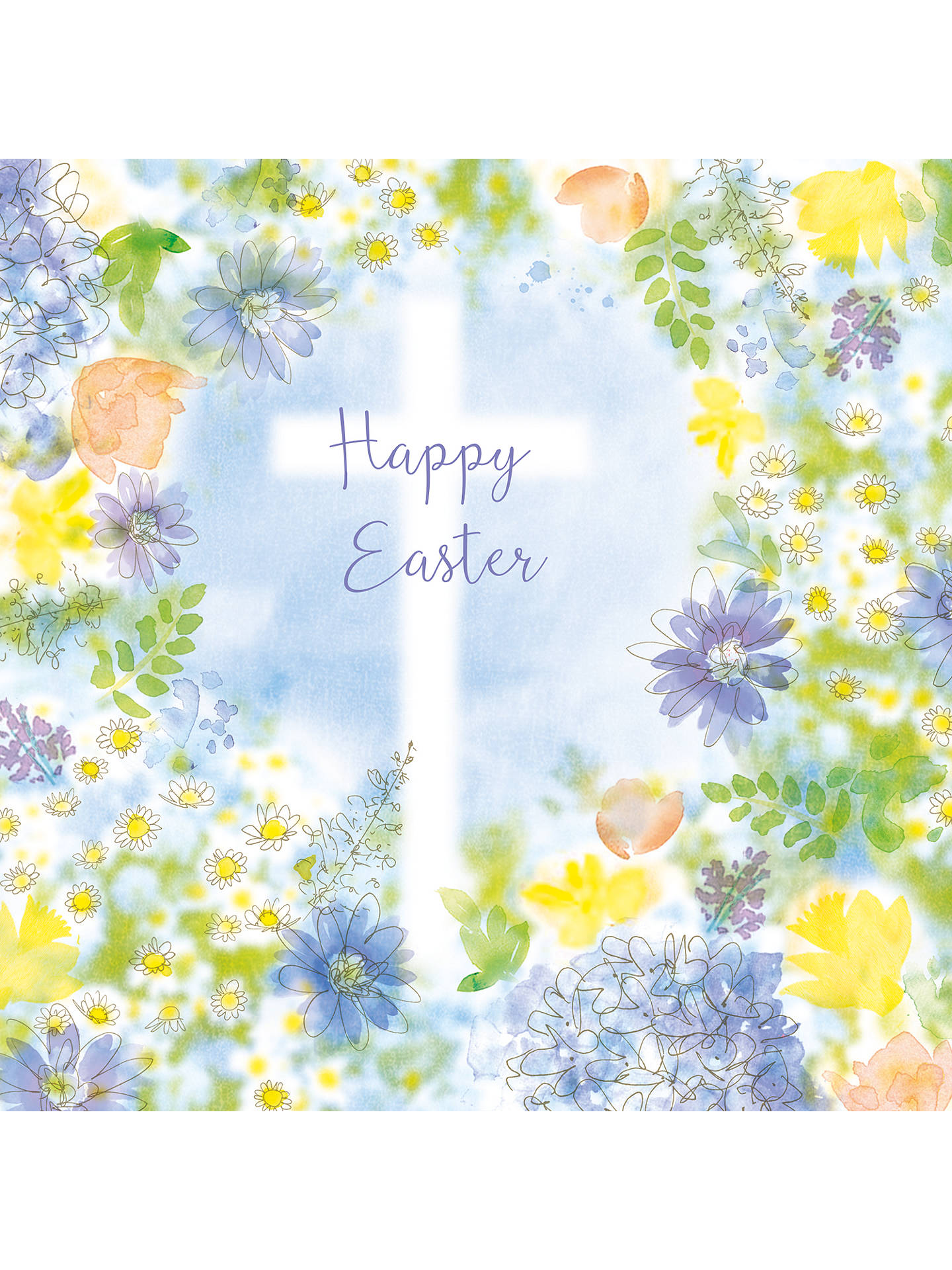 Saffron Cards And Gifts Frame With Cross Easter Greeting Card At