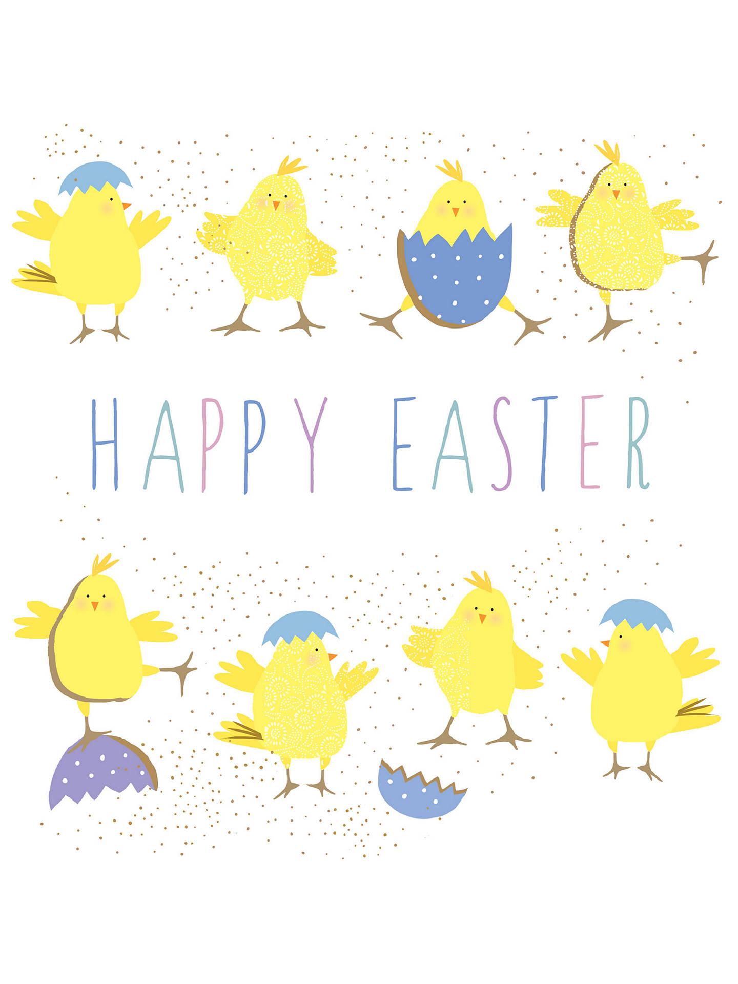 Portfolio Happy Easter Chicks Greeting Card At John Lewis Partners