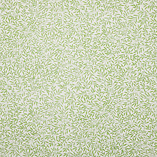 Buy Morris & Co Lily Leaf Print Fabric, Green Online at johnlewis.com