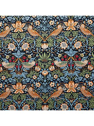 Morris & Co. Strawberry Thief Fabric, Navy