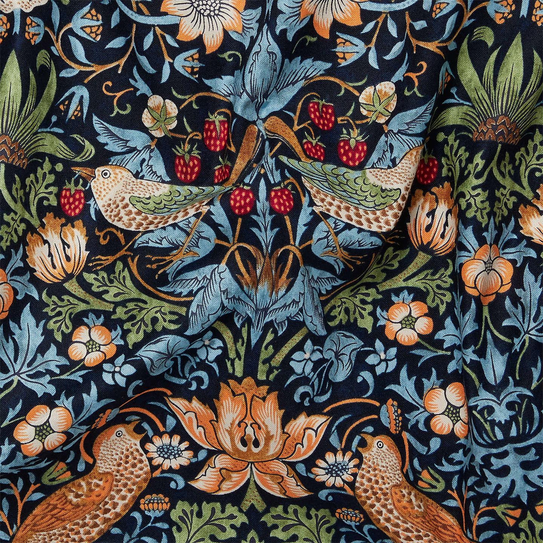 Morris Amp Co Strawberry Thief Fabric Navy At John Lewis