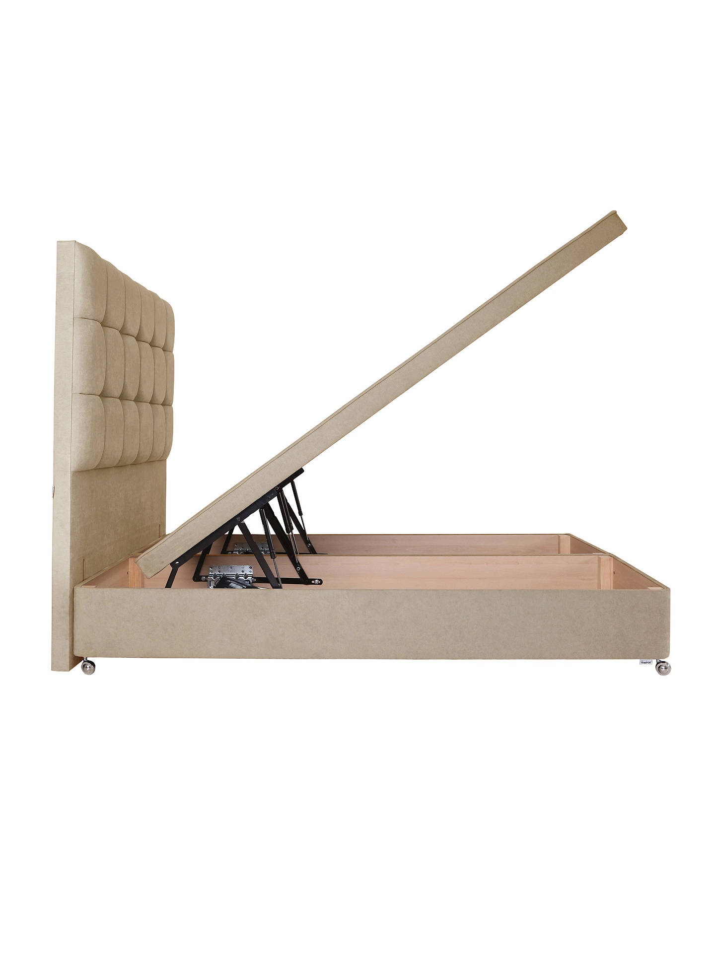 Remarkable Tempur Electric Ottoman Divan Storage Base Double Ecru Lamtechconsult Wood Chair Design Ideas Lamtechconsultcom