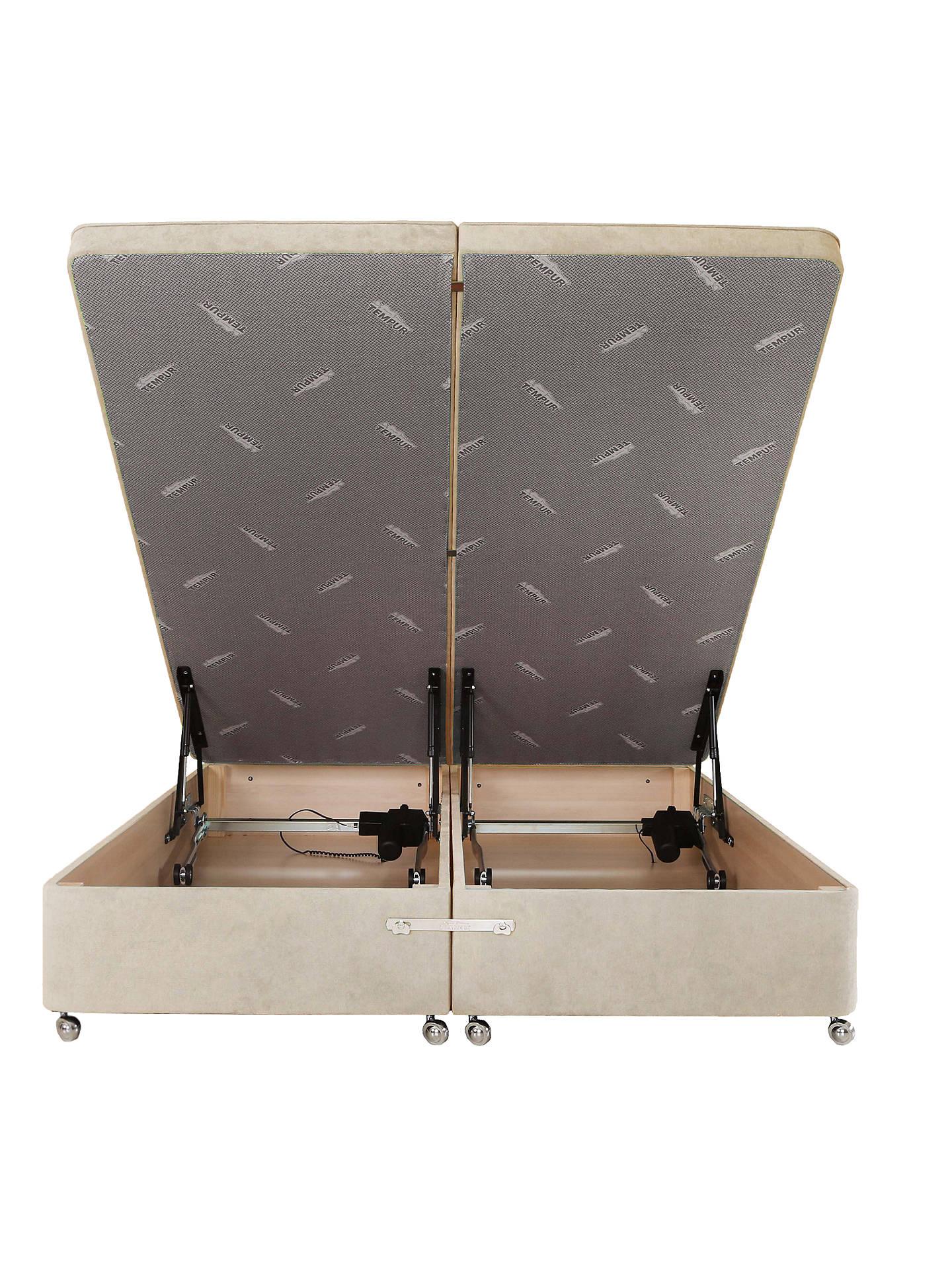 Surprising Tempur Electric Ottoman Divan Storage Base Double Ecru Lamtechconsult Wood Chair Design Ideas Lamtechconsultcom