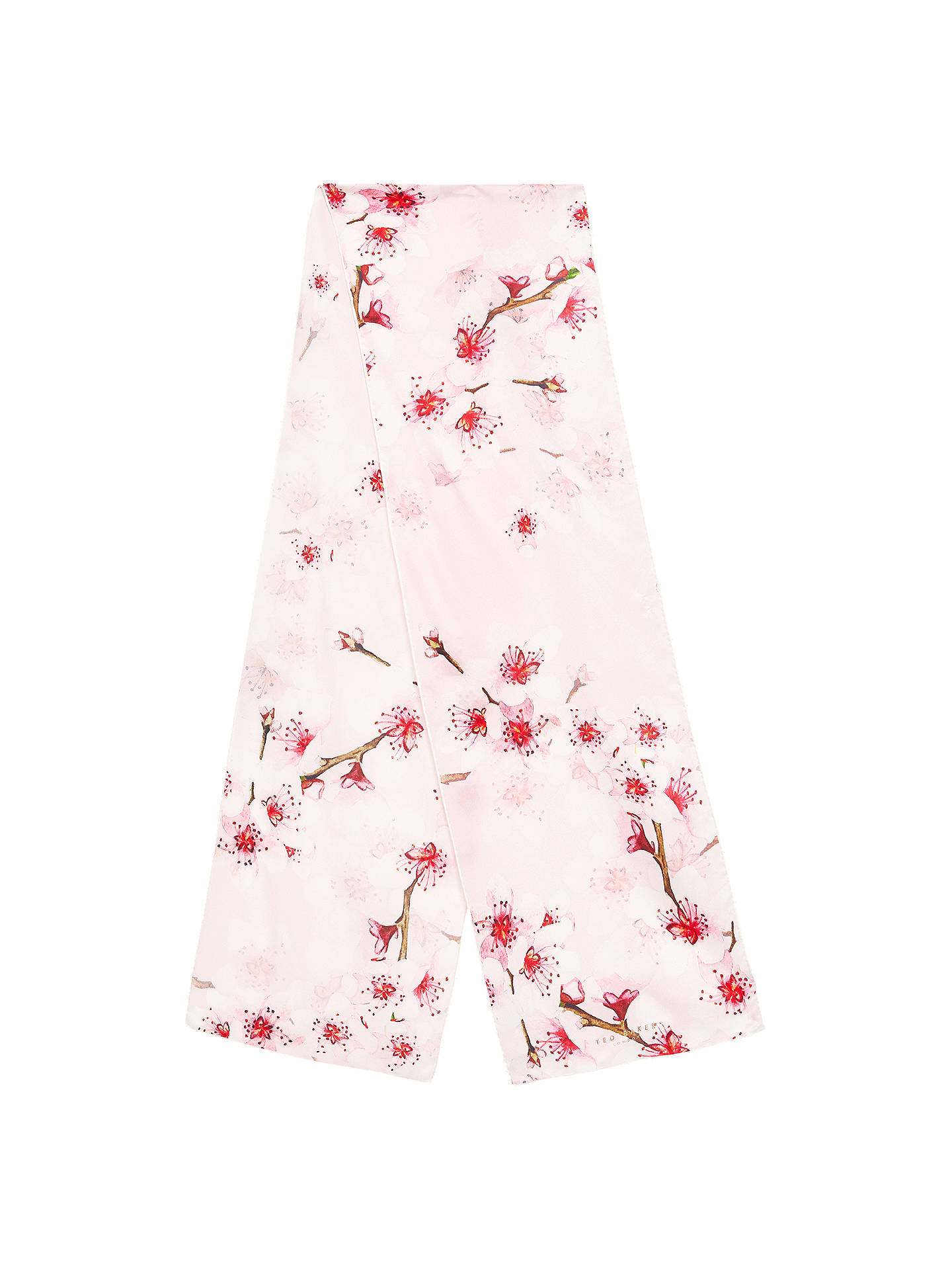 BuyTed Baker Brielle Soft Blossom Skinny Silk Scarf, Blush Online at johnlewis.com