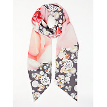 Buy Ted Baker Joane Blenheim Jewels Skinny Scarf, Grey Mix Online at johnlewis.com