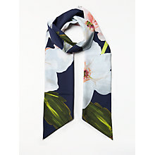 Buy Ted Baker Coel Chatsworth Bloom Skinny Scarf, Navy/Multi Online at johnlewis.com