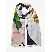 Buy Ted Baker Caniaa Chatsworth Bloom Long Silk Scarf, Navy/Multi Online at johnlewis.com