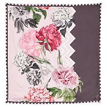 Buy Ted Baker Zaynei Palace Gardens Square Silk Scarf, Taupe/Pink Online at johnlewis.com