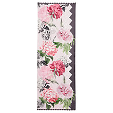 Buy Ted Baker Zedikia Palace Gardens Silk Scarf, Taupe/Pink Online at johnlewis.com
