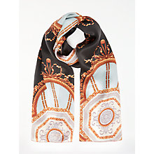 Buy Ted Baker Vanna Versailles Skinny Silk Scarf, Black Mix Online at johnlewis.com