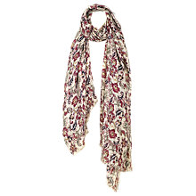 Buy Fat Face Damask Rose Print Scarf, Multi Online at johnlewis.com