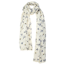 Buy Fat Face Butterfly and Bee Sequin Scarf, Off White/Multi Online at johnlewis.com