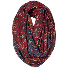 Buy Fat Face Victoria Woodblock Snood, Indigo/Claret Online at johnlewis.com