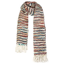 Buy Fat Face Maria Chunky Stripe Scarf, Multi Online at johnlewis.com