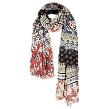 Buy Fat Face Sari Floral Patchwork Scarf, Multi Online at johnlewis.com