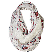 Buy Fat Face Bali Floral Snood, Off White/Red Online at johnlewis.com