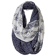 Buy Fat Face Persian Floral Two Part Snood, Navy/White Online at johnlewis.com