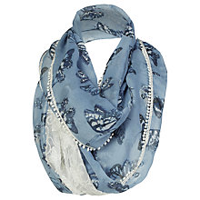Buy Fat Face Painterly Butterfly Lace Snood, Slate Blue Online at johnlewis.com